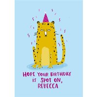 Lucy Maggie Hope Your Birthday Is Spot On Card, Large Size By Moonpig