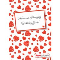 Love Actually Have An Amazing Birthday Card, Large Size By Moonpig