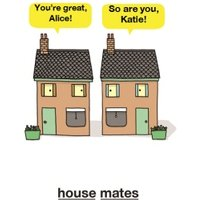 Talking Houses You're A Great Roomie Personalised Names Card, Giant Size By Moonpig