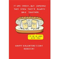 Mungo And Shoddy Cheesy Brie Together Funny Valentine's Day Card, Standard Size By Moonpig