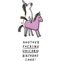 Funny Rude Another Fucking Unicorn Birthday Card, Large Size By Moonpig