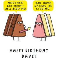 Funny Rude Well Blow Me Cake Birthday Card, Large Size By Moonpig