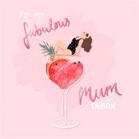 Colourful Illustrated Fabulous Mum Card
