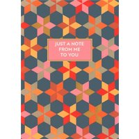 Mary Evans Geometric Pattern Just A Note Art Card, Standard Size By Moonpig