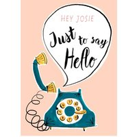 My Dear Friend Jenny Hello Personalised Card, Large Size By Moonpig