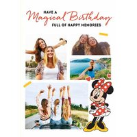 Cute Minnie Birthday Card - Photo Upload Full Of Happy Memories , Large Size By Moonpig