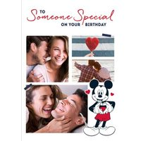 Mickey Mouse Someone Special Photo Upload Birthday Card, Standard Size By Moonpig