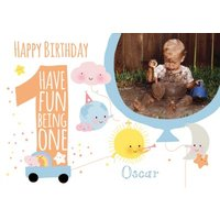 1st Birthday Card, Giant Size By Moonpig