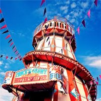Photographic Helter Skelter Fair Ground Just A Note Card, Large Square Card Size By Moonpig