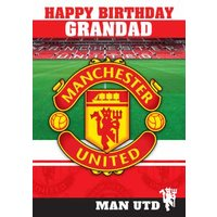 Manchester United Birthday Card - Grandad, Standard Size By Moonpig