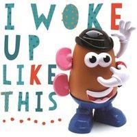 'Funny Birthday Card - Mr Potato Head I Woke Up Like This, Square Size By Moonpig