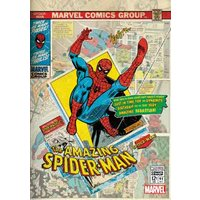 'Marvel Spiderman Comic Book Cover Personalised Card, Standard Size By Moonpig
