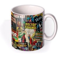 Marvel Comics Montage Mug by Moonpig, Gift Set - Delivery Available