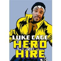 Marvel Luke Cage Hero For Hire Face Upload Card, Giant Size By Moonpig