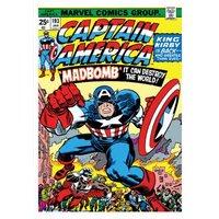 Marvel Comics Captain America Birthday Card, Giant Size By Moonpig