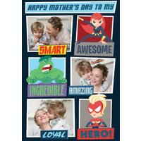 Marvel Comics Mum Is My Hero Photo Upload Mother's Day Card