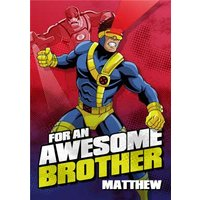 Marvel Xmen For An Awesome Brother Card, Standard Size By Moonpig