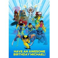 Marvel Xmen Have An Awesome Birthday, Giant Size By Moonpig