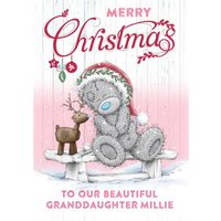 Me To You Tatty Teddy Merry Christmas Granddaughter Card, Giant Size By Moonpig
