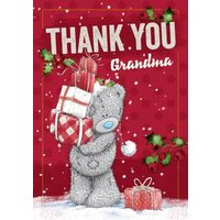 Me To You Tatty Teddy Personalised Christmas Thank Card, Large Size By Moonpig