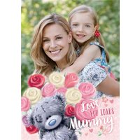 Mother's Day Card - Mummy Tatty Teddy Photo Upload Card, Standard Size By Moonpig