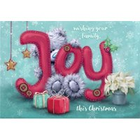 Wishing Your Family Joy Christmas Card, Large Size By Moonpig