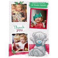 Me To You Tatty Teddy Photo Upload Thank Christmas Card, Large Size By Moonpig