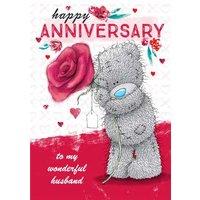 Tatty Teddy Cute Anniversary Card - Husband, Standard Size By Moonpig