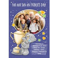 Tatty Teddy For Our Son On Father's Day Photo Card