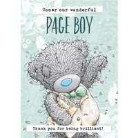 Me To You Tatty Teddy Our Wonderful Page Boy Thank Card, Standard Size By Moonpig
