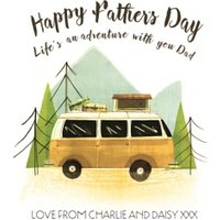 Camping In The Woods Happy Fathers Day Card