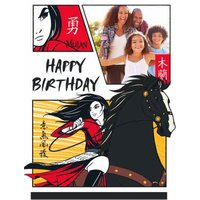 Disney Mulan Photo Upload Birthday Card, Standard Size By Moonpig