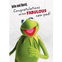 The Muppets Kermit Congrats On Your Pad New Home Card, Large Size By Moonpig