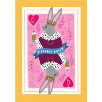 Birthday Queen Rabbit Card, Giant Size By Moonpig