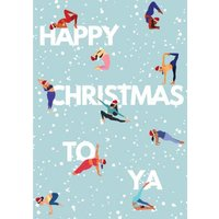 Modern Illustration Happy Christmas To Ya Card, Giant Size By Moonpig