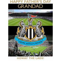 Newcastle United Football Howay The Lads Happy Father's Day Card, Large Size By Moonpig