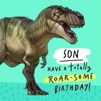 Tyrannosaurus Rex Son Birthday Card, Square Card Size By Moonpig