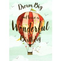 Hot Air Balloon Birthday Card, Large Size By Moonpig