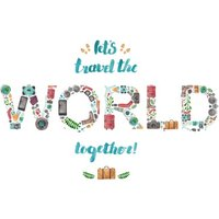 Lets Travel The World Together Card, Giant Size By Moonpig