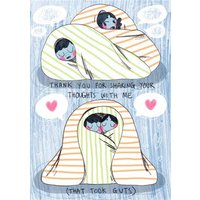 Thanks For Sharing Your Feelings With Me Friendship Postcard, Postcard Size By Moonpig
