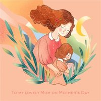 To My Lovely Mum On Mother's Day Card, Square Card Size By Moonpig