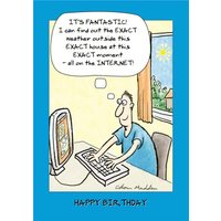 The Weather Outside Funny Captioned Personalised Birthday Card, Giant Size By Moonpig