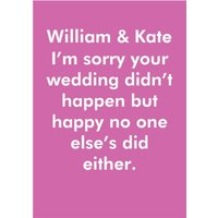 Objectables Wedding Didn't Happen Funny Card, Giant Size By Moonpig