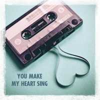 Cassette Tape You Make My Heart Sing Card, Large Square Card Size By Moonpig