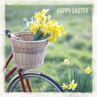 Spring Flowers Happy Easter Card, Large Square Card Size By Moonpig