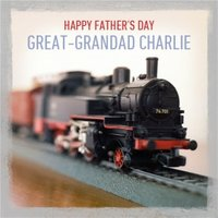 Personalised Happy Fathers Day Great Grandad Card, Square Card Size By Moonpig
