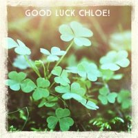 Oh Snap Personalised Good Luck Clova Card, Square Card Size By Moonpig