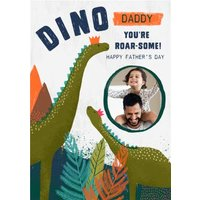 Dino Daddy You Are Roar-Some Cute Father's Day Photo Card, Standard Size By Moonpig