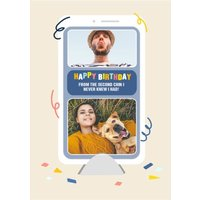 Topical Isolation Facetime Photo Upload Birthday Card, Giant Size By Moonpig