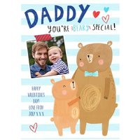 Cute Personalised Valentine's Day To My Daddy Photo Card, Large Size By Moonpig